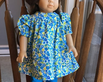 "Dress with leggings for 18""  doll such as American girl"