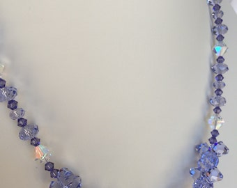 Violet Swarovski Crystal Necklace