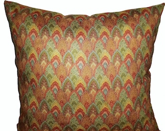 Decorative rust pillow/rust toss pillow/Throw pillows/Velour fabric pillow/toss pillows/Home decor pillow/Mother's Day gift/Easter gift