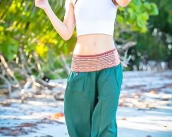 Green Capri Pants, Festival Pants, Cotton Pants, Short Pants, Capris, Cropped Pants, Casual Pants, Baggy Pants, Womens Capris, Tribal Pants