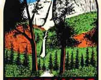 Vintage Style  Yosemite National Park  California Travel Decal sticker