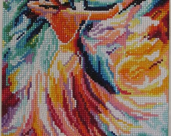 beaded canvas picture