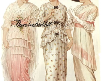 Fabric blocks.Victorian  Ladies of Fashion. Two identical 5x7 fabric blocks.  Gorgeous.Free worldwide shipping