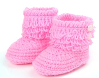 Baby Pink Booties (free shipping)