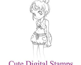 Digital Stamp, Nadine, Scrapbooking Digital Stamp, Instant Download, Zuri Artsy Craftsy, Digi Stamp, Cardmaking, coloring page