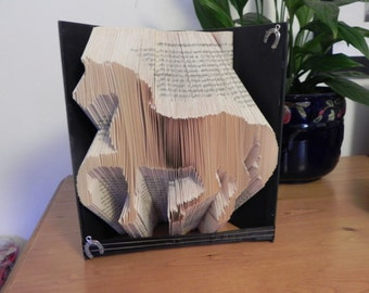Book Folding Pattern for a Horse ~ Dressage +FREE TUTORIAL