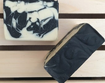 Peppermint + Charcoal All Natural Goat Milk Soap