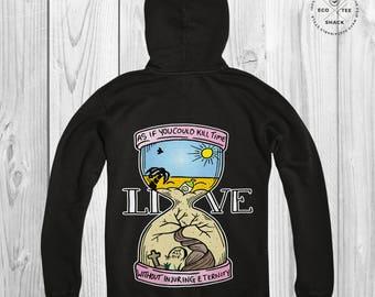 Tattoo Hoodie, Vegan Hoodie, Organic hooded sweatshirt, Fair trade Hoodie, Inspirational Hoodie,