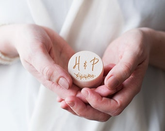 Personalised Vine Wedding Ring Box - Wedding Ring Holder - Wooden Box - Vintage - Rustic Wedding Decor - Jewellery Box - Engagement Ring Box