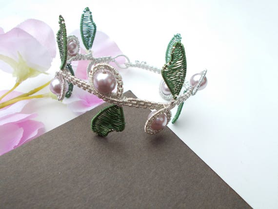 Muschel Perlen Armband Draht umwickelt Armband Draht