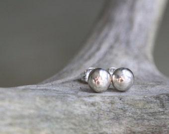Silver Drop Earrings - Silver Ball Studs - Petite Stud Earrings - Silver Stud Earrings - Ball Post Earrings - Ball Studs