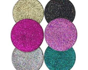 Rainbow Bright Set - 6 Super Sparkly Prima Pressed Glitters