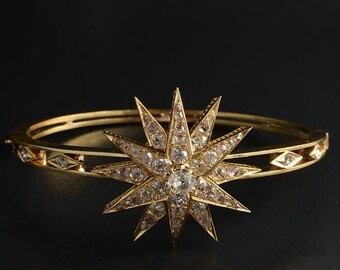 Celestial Victorian 4.25 Ct top quality diamond Victorian bangle