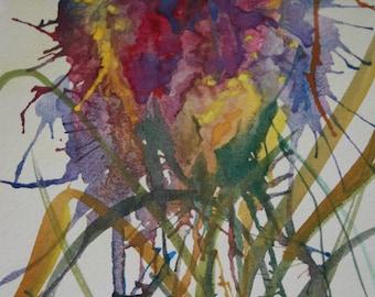 """Art Print Watercolor """"Fantasia de Flor"""""""