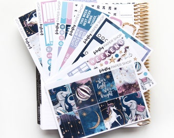 Starlight DELUXE Weekly Kit (stickers for Erin Condren Life Planner - Vertical)
