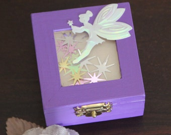 Purple Tooth Fairy Box! Fairy box, jewelry box, girls keepsake box, gift box
