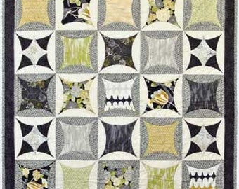 Modern Noir Quilt Kit featuring Red Rooster Fabric. Designed by Heidi Pridemore
