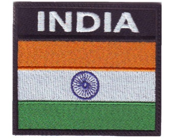 India Badge Flag Embroidered Patch