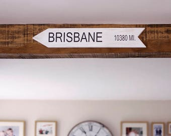 Personalised Distance Location Sign