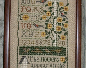 Garden Cross Stitch Sampler