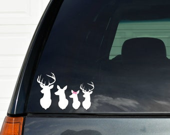 Deer Family Decal Etsy - Custom window clings for cars