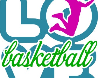 Love Basketball SVG Cutting File for the Cricut