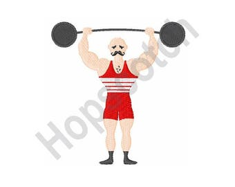 Weight Lifter - machine embroidery design
