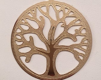 Gold filled Tree of Life Charm.  Double side. Large Tree of Life