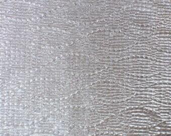 Metallic Champagne Beige Pleated Interlock, Fabric By The Yard