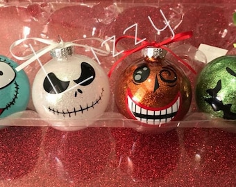 Nightmare Before Christmas ornaments (4)