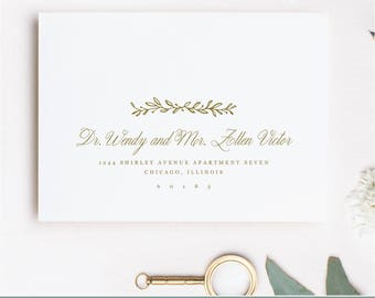 Printable Envelope Template | Deco Floral | Calligraphy Alternative | for Word or Pages Mac & PC | INSTANT DOWNLOAD