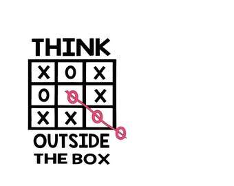Think Outside The Box SVG Digital Download File