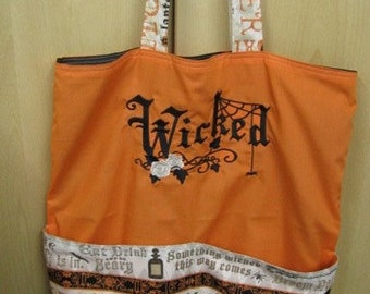 Wicked Halloween Eco Friendly Tote, Purse, Bag
