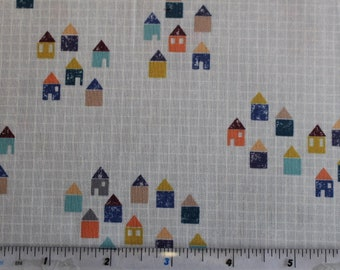 """Villages/Houses """"Life's Journey"""" by Dashwood. 100% Cotton Patchwork and Quilting Fabric"""