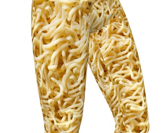 Ramen Noodles Photo Print, High Waist Womens Stretch Leggings  / Yoga Pants
