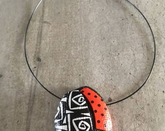 necklace with pendant with ladybug - new collection