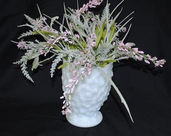 Vintage Brody Milk Glass Lumpy Vase