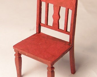 1:24 scale miniature dollhouse furniture kit Carmel chair