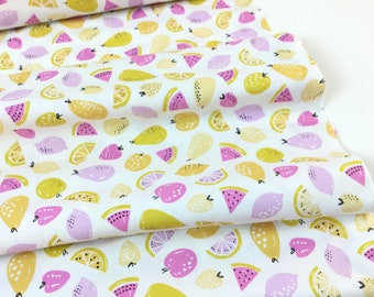 Sugar Fruit Salad Lemon Color from Erin McMorris Sugar Collection for Free Spirit Fabrics, Quilt Cotton, Buy More and Save