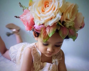 Flowers Crown in White Rose