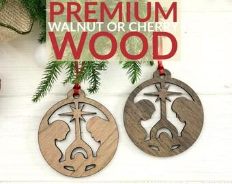 Nativity Ornament 2017 - Laser Cut Ornament - Jesus Baby Ornament - Nativity Scene Ornament - Wood Ornaments  - Wooden Ornament