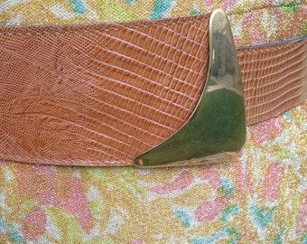 leather waist belt 1970s