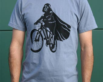 Darth Vader is Riding It men's graphic shirt, star wars t-shirt, vader on bike, gift for dad, husband birthday gift, Father's day gift