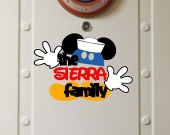 Personalized Sailor Family Name - Disney Cruise Magnet - Door Magnet