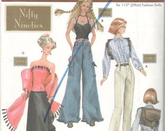 Simplicity 7081 Nifty Nineties Fashion Doll Clothes Pattern 11 1/2  Barbie Sewing Pattern UNCUT