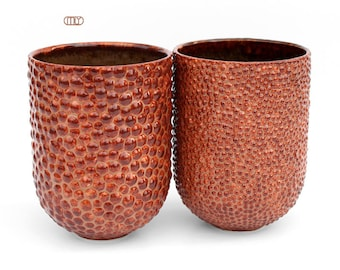 Microstructure, stoneware ceramic mugs, textured mug