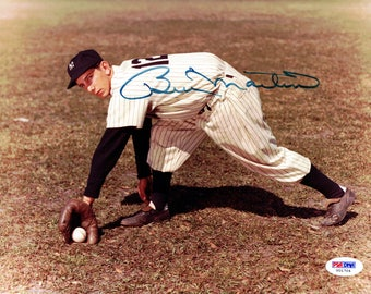 Billy Martin New York Yankees Autographed Signed 8x10 Photo PSA