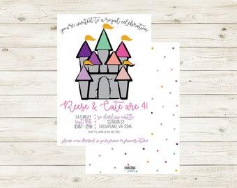 ROYAL CELEBRATION | Princess Royal Celebration Birthday Invitation | Princess Castle Birthday Invitation | Princess Birthday Invitation