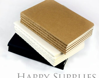 BULK 50 (64K /A6/10x14cm) Blank Kraft Notebooks / Express Post (NO LOGO or Marks on Cover)