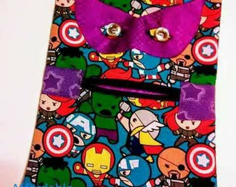 Snack Sac, Reusable, Lunch Bag, Super Hero, Lunch Sack, Snack Bag